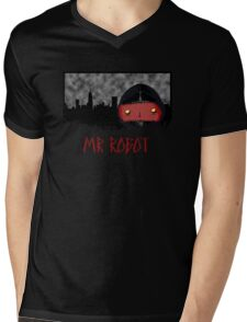 Bad Mr Robot Mens V-Neck T-Shirt