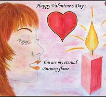 Pretty woman in love by daffodil