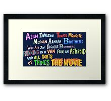 Two Brothers... The Movie Framed Print