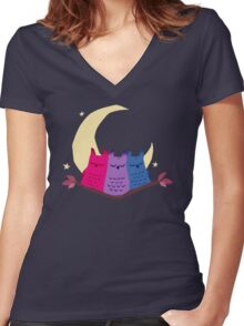 Bisexuowls Women's Fitted V-Neck T-Shirt