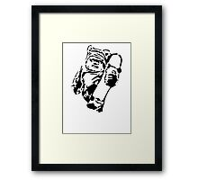 Jawa Skateboarder Stencil Framed Print