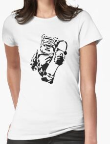 Jawa Skateboarder Stencil Womens Fitted T-Shirt