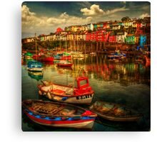 Brixham Boats Canvas Print