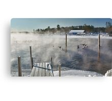 Cold Winter Morning on Brandy Pond Canvas Print