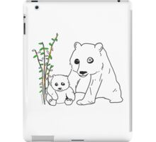 Panda Mommy & Baby iPad Case/Skin