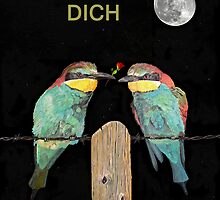 ICH LIEBE DICH, HAPPY VALENTINES  bee eaters by Eric Kempson