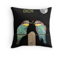 ICH LIEBE DICH, HAPPY VALENTINES  bee eaters Throw Pillow