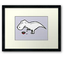 T-Rex Problems Framed Print