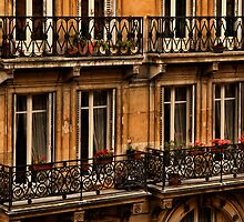 Left Bank Balconies by Mick Burkey