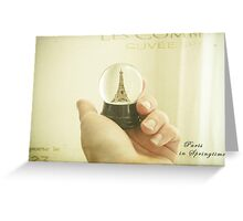Paris, One Day Greeting Card