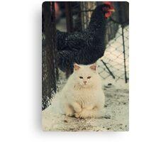 White Garfield Canvas Print