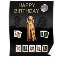 Happy Birthday Scream Poker Poster