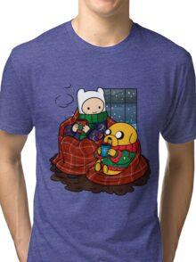 Finn and Jake Really Big Sweaters  Tri-blend T-Shirt
