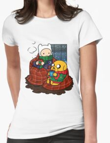 Finn and Jake Really Big Sweaters  Womens Fitted T-Shirt