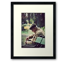 Radio man Framed Print