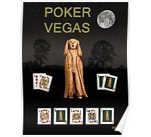 Poker Vegas Scream Poster