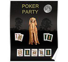 Poker Scream Party Poker Poster