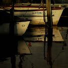 Moored Boats by Karen  Betts