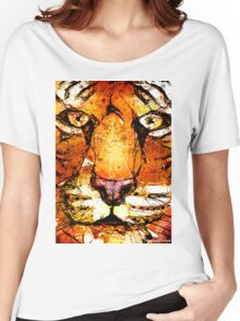 Scribble Tiger Tee Women's Relaxed Fit T-Shirt