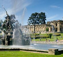 Perseus vs The dragon at Witley Court by Cliff Williams