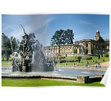 Perseus vs The dragon at Witley Court Poster