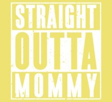 Straight Outta Mommy - Distressed Look Kids Tee