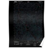 USGS Topo Map Oregon Blue Mountain 20110902 TM Inverted Poster