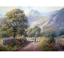 Driving into Langdale, Cumbria Photographic Print