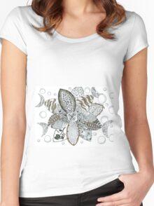 Aqua doodling  Women's Fitted Scoop T-Shirt