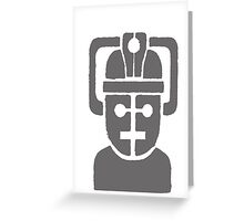 cyberman robot Greeting Card