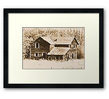 Memories Of The Old Homestead Framed Print