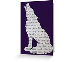 Dumbledore Wolf Greeting Card
