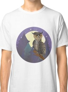 Owl in Night Forest Classic T-Shirt