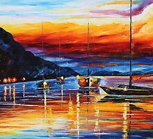 Sicily Mesinna - original oil painting on canvas by Leonid Afremov by Leonid  Afremov