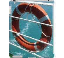 Orange Lifebelt on Holiday Cruise Ship Railings iPad Case/Skin
