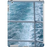 Holiday Cruise Ship Railings and Ocean Wake Waves Behind iPad Case/Skin