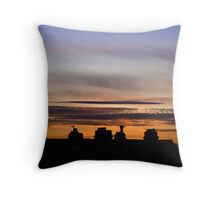 Rooftop Sunset Throw Pillow