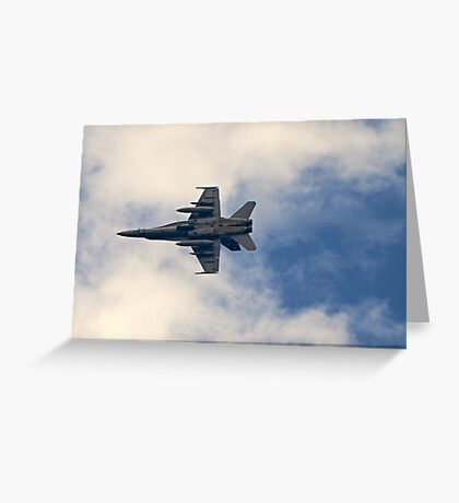 RAAF F-18 Fighter Greeting Card