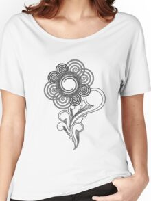 Flower Sketching Women's Relaxed Fit T-Shirt