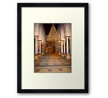 Kairouan Mosque Mihrab and Prayer Room in Tunisia Framed Print