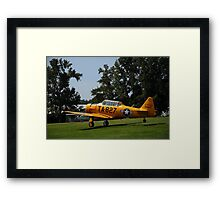 Post War Trainer - T6 Texan Framed Print
