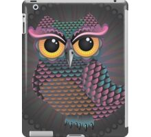 Pink and Blue Color Owl 2 iPad Case/Skin