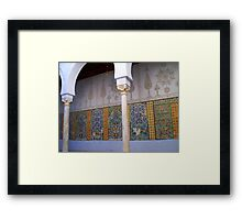 Kairaouan Mosque Faience Mosaic Detail Tunisia Framed Print