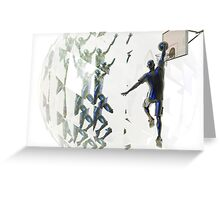 Light bending refraction basketball Greeting Card