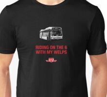 Riding on the 6 Unisex T-Shirt