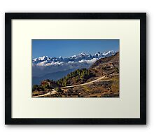 Quarry and Himalayas Framed Print