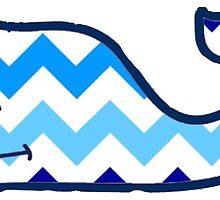 Chevron Blue ombre vineyard vines whale by taliapaige