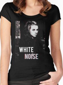 White Noise Women's Fitted Scoop T-Shirt