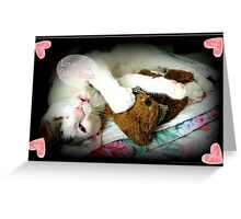 Kitten Valentine Greeting Card