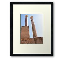 Ancient Roman Stone Columns at Carthage Tunisia Framed Print